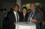 David Teh (Conference Presenter), Beverly Pasian (PMAC President), and Miles Shepherd (IPMA President)